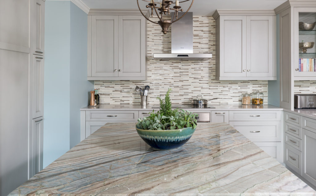 Kitchen-Island stone & Range wallDR-28